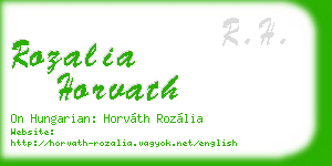rozalia horvath business card